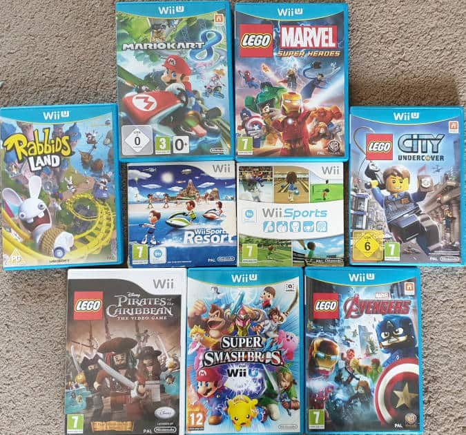 Bundle of toddler friendly Wii U games