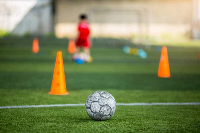 Host a soccer party! Drills can easily be made into fun party games.