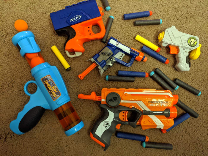 Toddler compatible NERF guns