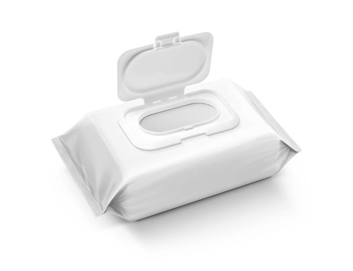 a packet of baby wipes