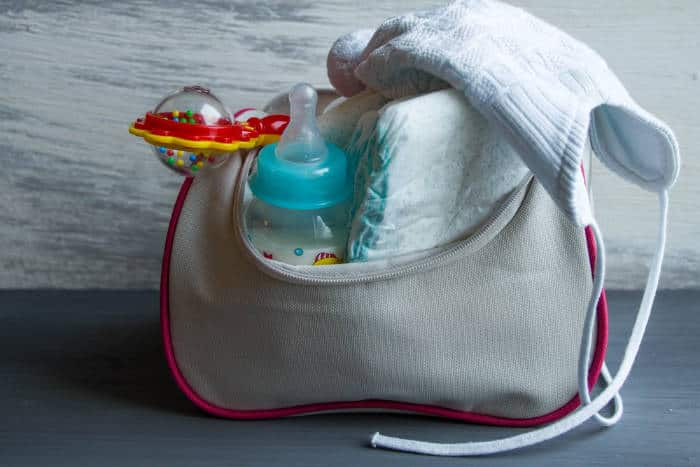 Packed diaper bag