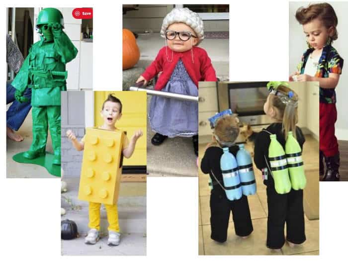 Collection of DIY halloween costumes