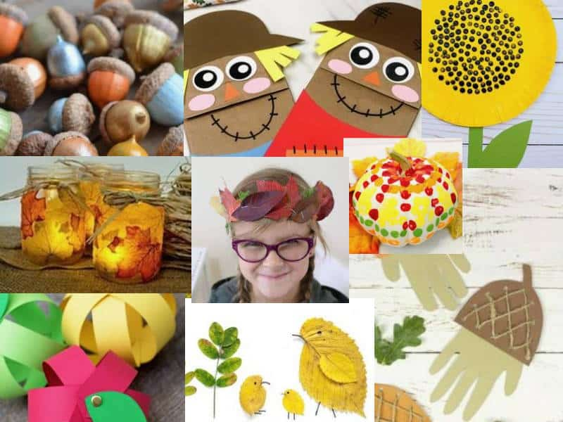 Fall crafts ideas collage