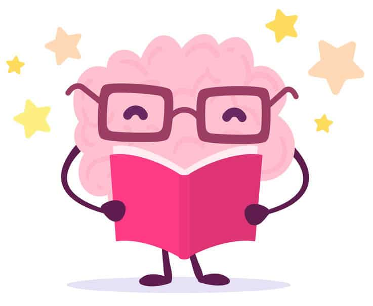 A brain reading with stars